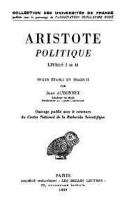 Aristote, Politique, Introduction & Livres I-II