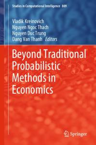 Beyond Traditional Probabilistic Methods in Economics