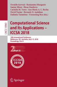 Computational Science and Its Applications – ICCSA 2018