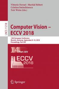 Computer Vision – ECCV 2018