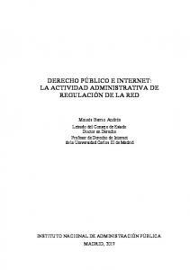 Derecho público e Internet la actividad administrativa de regulación de la Red