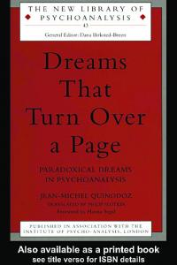 Dreams That Turn Over a Page (New Library Ofpsychoanalysis, 43)