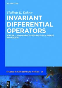 Invariant Differential Operators. Noncompact Semisimple Lie Algebras and Groups